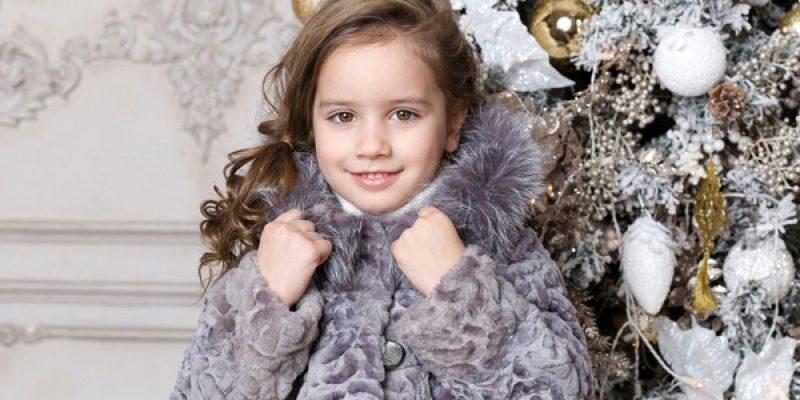 Теплые и красивые детские шубы из натурального меха